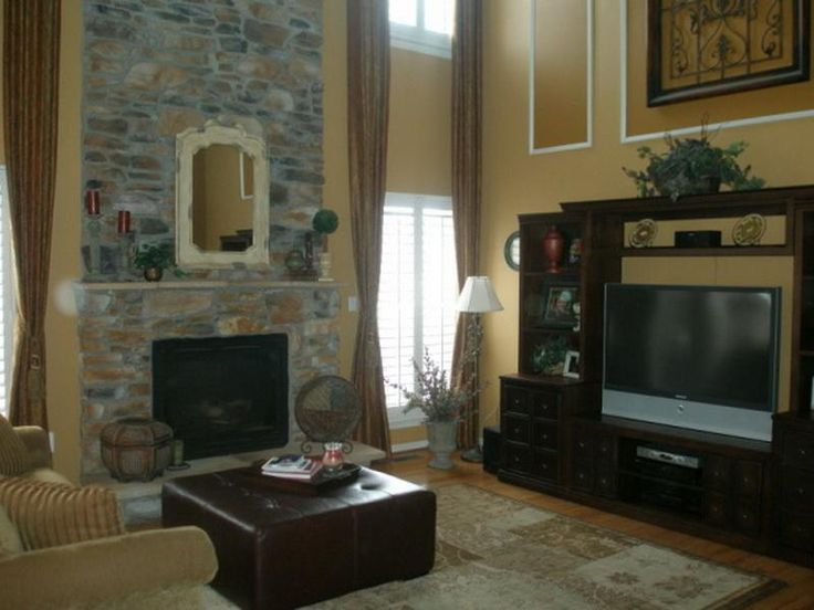 Fireplace 2 Story Family Room Decorating Ideas Gallery