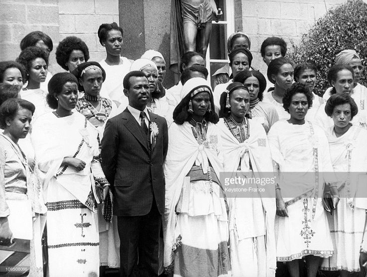 The President Of The Provisional Military Council Of Ethiopia Mengistu Haile Mariam Attending The Congress Of The Revolutionary Women'S League Of Ethiopia In Addis Abeba On December 2, 1980.