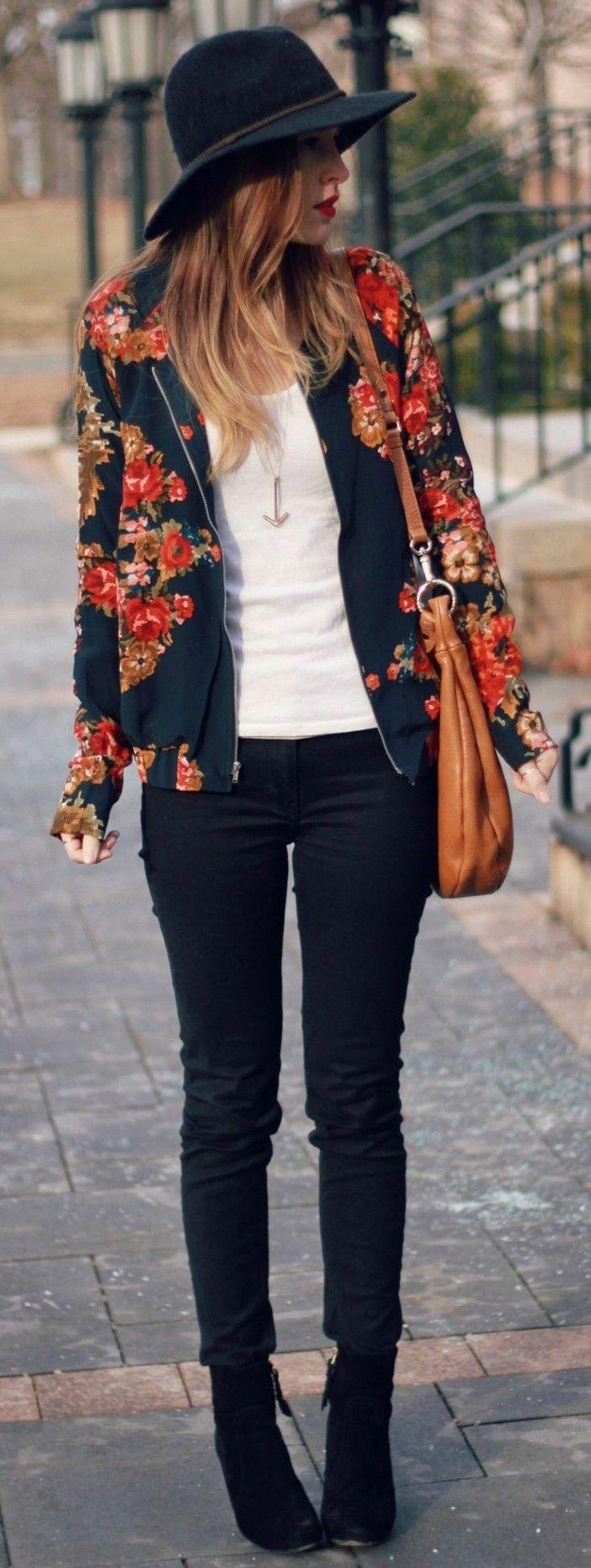 Filzhut damen jacke mode damen