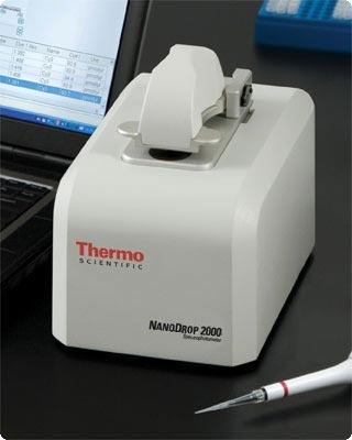 NanoDrop 2000 spectrophotometer for life sciences