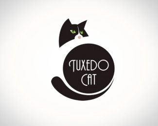 Image detail for -Tuxedo Cat Logo Design Details
