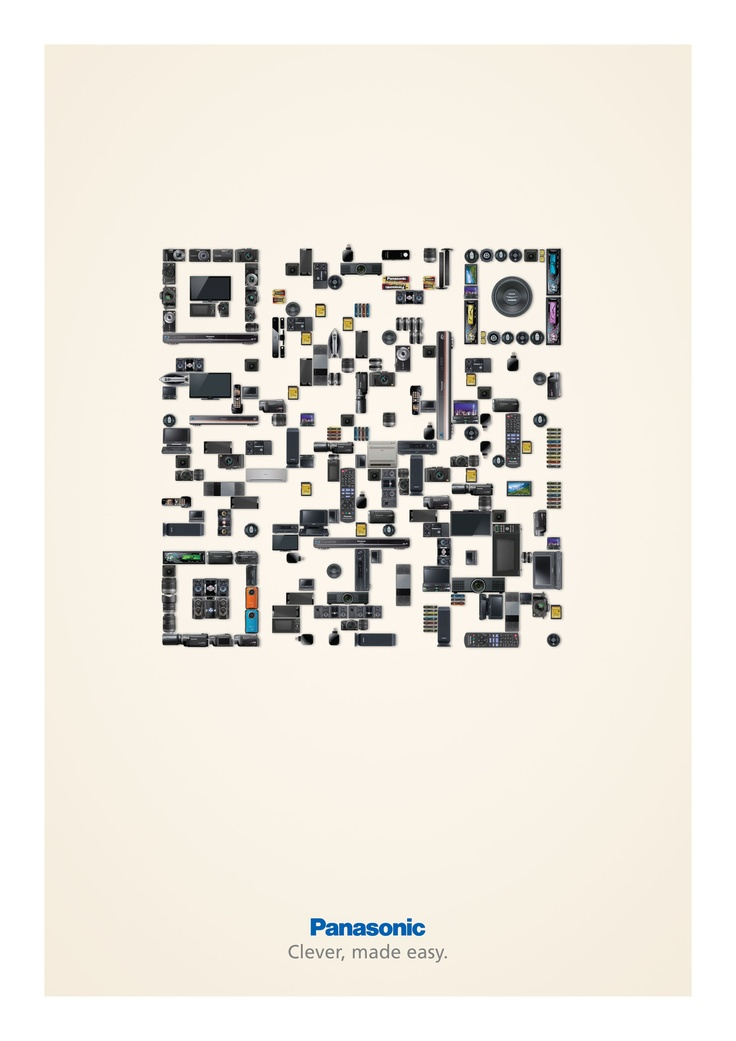 QR Code magic from Panasonic. It works. The image is created out of products. Created by Advertising Agency: Publicis Mojo New Zealand