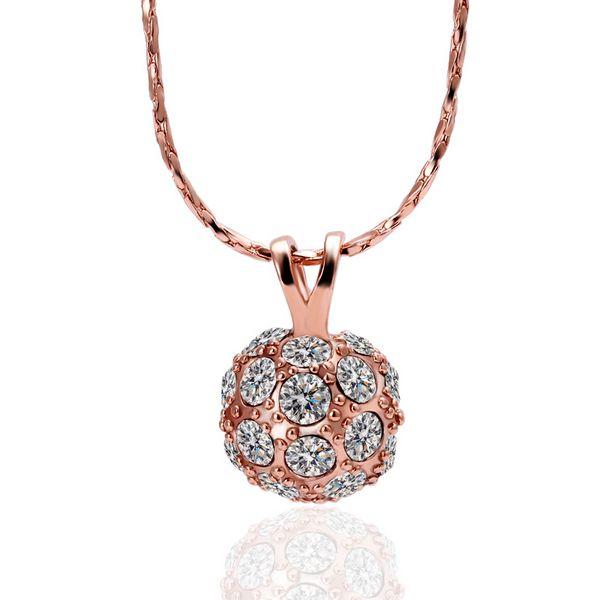 18 К желтый и белый и из розового золота ожерелье красочные мяч Pendnants и ожерелья женщины подвески ювелирные изделия YPN010купить в магазине Rare jewelleryнаAliExpress