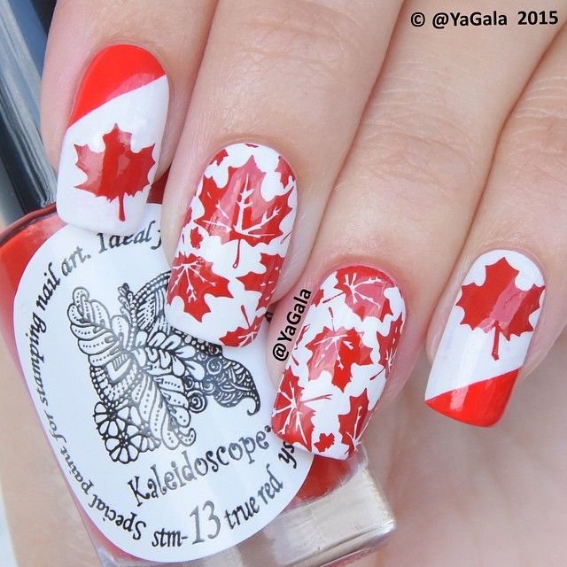 "🍁Happy Canada Day🍁 🍁El Corazon No423/290 &  No423/265 @el_corazon_shop 🍁Kaleidoscope special polish for stamping nail art stm-13 ""The Red"" @el_corazon_art_direct 🍁Stamping plate FUN8 @faburnails 🎥Video will be up shortly . . 🍁Маникюр ко Дню Канады🍁 🍁El Corazon No423/290 &  No423/265 @el_corazon_shop 🍁Kaleidoscope лак для стэмпинга stm-13 ""The Red"" @el_corazon_art_direct 🍁Плитка для стэмпинга FUN8 @faburnails 🎥Видео будет через пару часов! А про день России я забыла! 😱😱😱 Стыд и…"