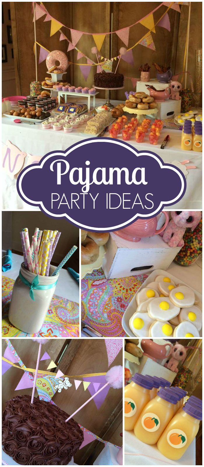 Here's a pajama party with a stuffed animal making workshop! See more party ideas at CatchMyParty.com!