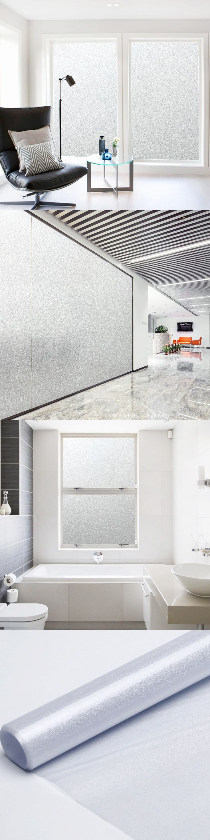 45*500cm No Glue Vinyl Static Cling Frosted Privacy Stained Glass Door Window Film Anti UV Bathroom Decor WMBLT-45MJ