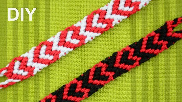 Heart Friendship Bracelet for Valentines Day / DIY Tutorial