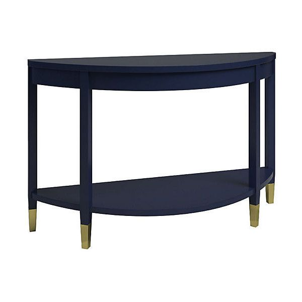 Dauphine Console Blueberry Console Table ($1,395) ❤ Liked On Polyvore  Featuring Home, Furniture, Tables, Accent Tables, Half Moon Console Table,  Half ...