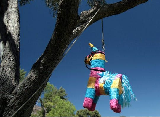 There's been a great deal of talk over at Ohdeedoh today about piñatas — and we think they're for more than just kids