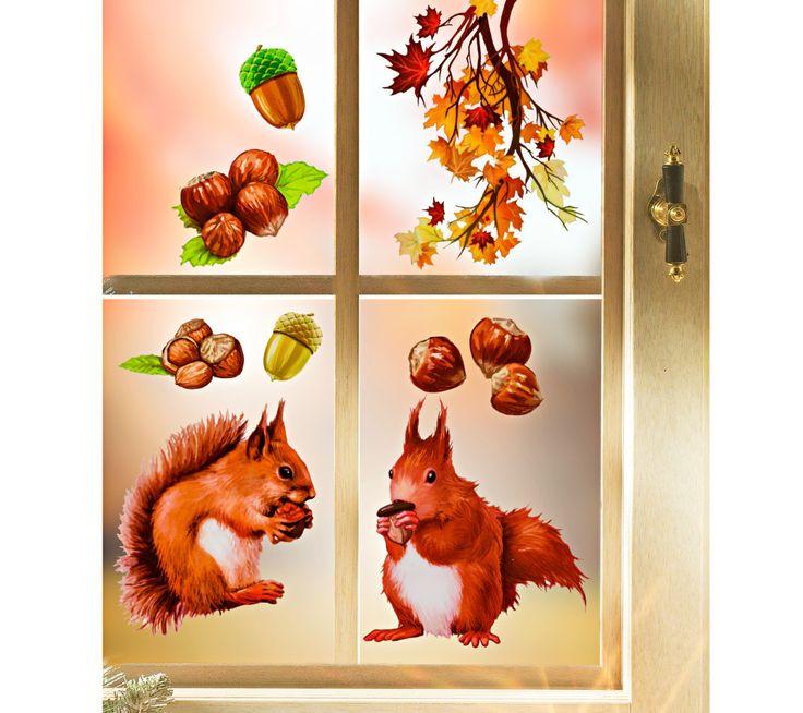 Obraz na okno Louskáček | magnet-3pagen.cz #magnet3pagen #magnet3pagen_cz #magnet3pagencz #3pagen #podzim #dekorace #fall #autumn #decoration
