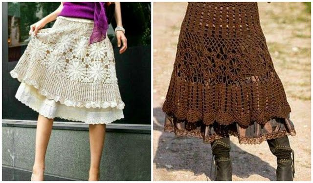 10 free crochet skirt patterns and charts