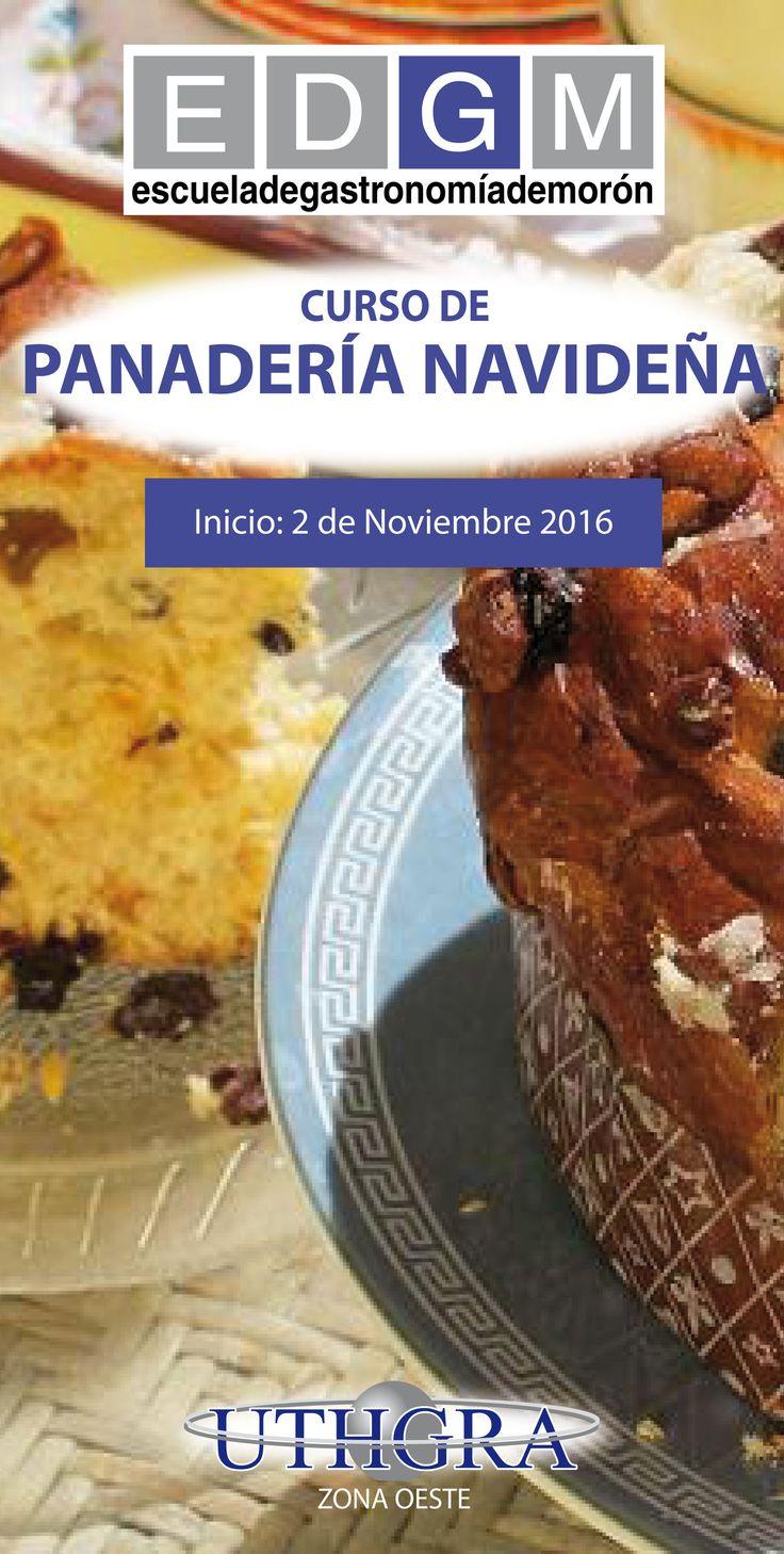 CURSO DE PANADERÍA NAVIDEÑA www.escuelauthgramoron.com.ar #PanaderíaNavideña #CursosCortosdeCocina #EDGM #EscuelaGastronomía #CocinaNavideña