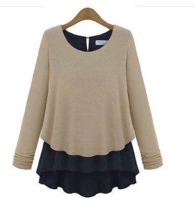 Amazon.co.jp: Richie Rosa シフォン ブラウス キュート フリルスカート セレブファッション 2カラー LA0008: 服&ファッション小物