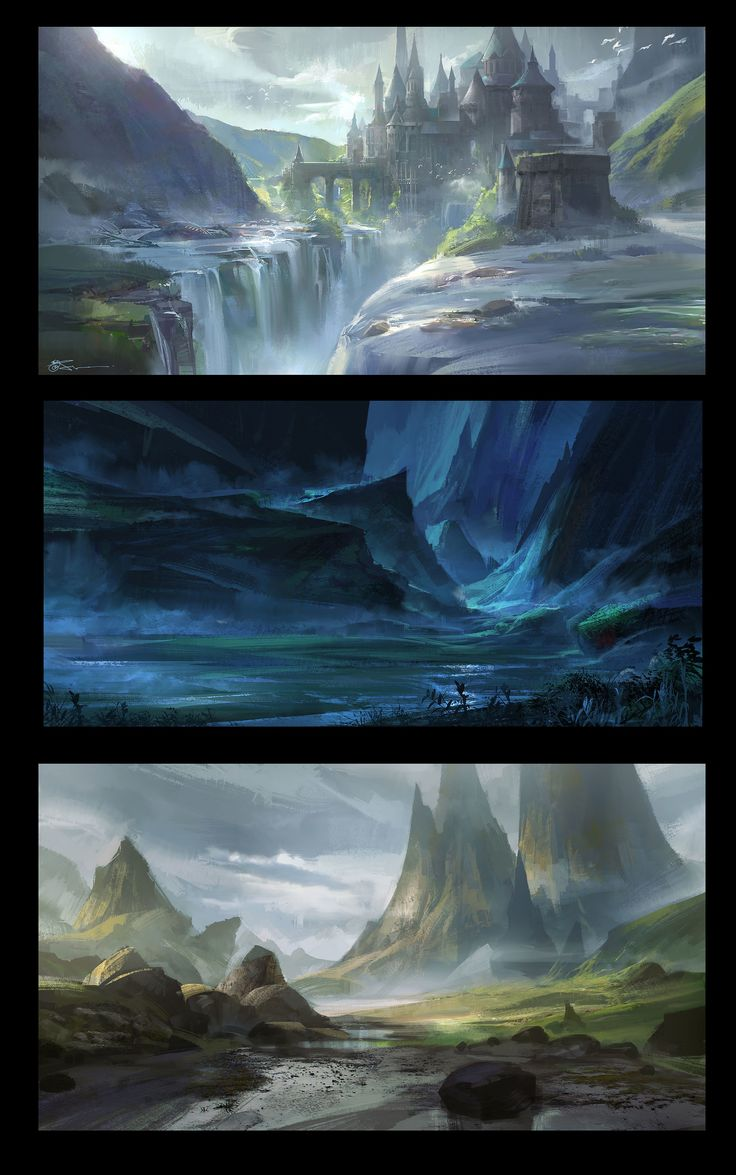 ArtStation - Environment Landscape speed painting, jeremy chong