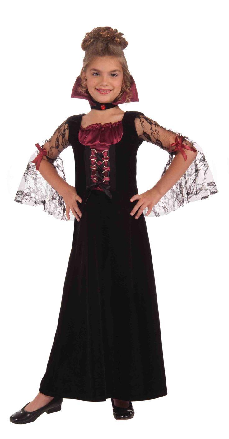 Vampire Costumes for Girls | Miss Vampire Costume $16.89 - Girls Costumes | Kids Halloween Costumes