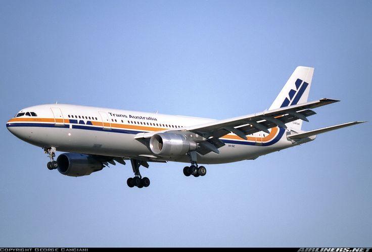 Trans Australia Airlines (TAA) Airbus A300B4-203 VH-TAA, circa 1982.