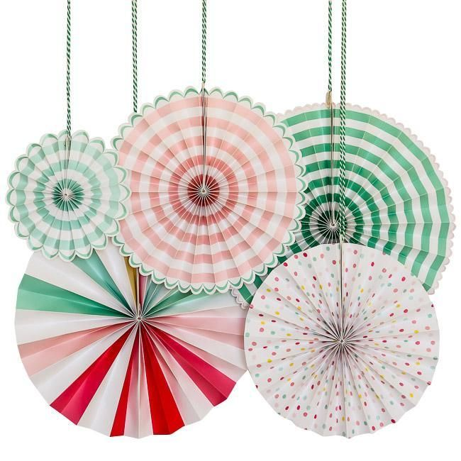 'It's a Party' Pinwheel Decorations
