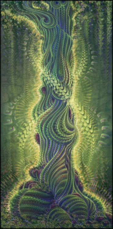 DENDROPSYCHE [noun] the soul of a tree; the soul within a tree (art by Simon Haiduk)