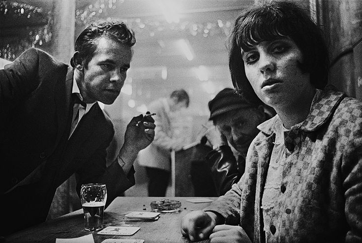 Lilly, Rose and Scar in Cafe Lehmitz, Hamburg, 1970. Photograph: Anders Petersen
