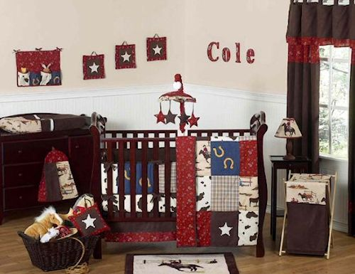 Cowboy Western Baby Crib Bedding Set - 9pc Nursery Collection #kidsroomstore $199.99