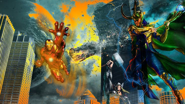 Loki vs Iron Man and Thor by 19genocide87.deviantart.com on @DeviantArt  #Loki #Thor #IronMan #Avengers