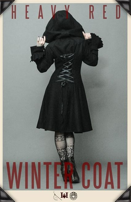 Gothic Coats, long black coats, tailored coats, gothic jackets, crop jackets, corset coats, gloves, Coats and Jackets by Gothic Clothing designer Ondine for Heavy Red Couture Noir. Goth to punk Victorian to Edwardian Steampunk Couture Gothic Fashion.