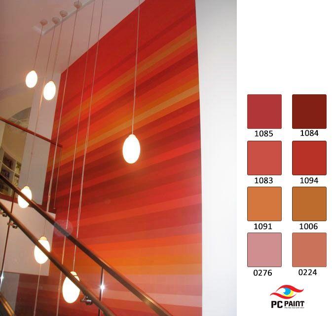 Tường bậc thang có ít sắc nhưng nguồn sáng tối đa dạng