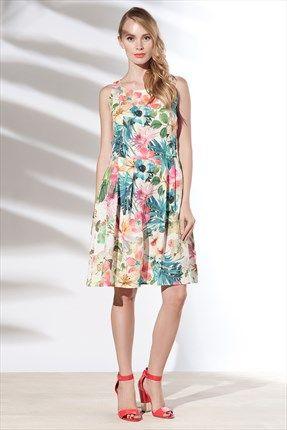 Zanzi - Mint Keten Elbise 24563 Trendyol da #SLN #istanbul #fashion #cotton