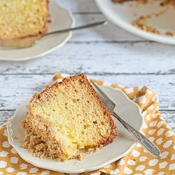Meyer Lemon Coffee Cake with Almond Streusel. Laced with lemon curd ...