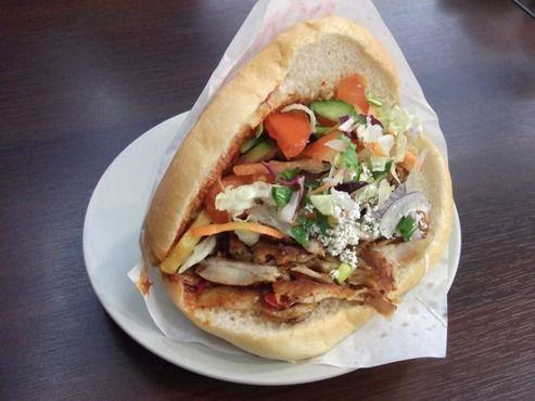 Mustafa's Gemüse Kebab  —   Mehringdamm 32  Berlin 10961  Just a few feet from Curry 36 stands Mustafa's Gemüse Kebap, Berlin's most recommended döner.