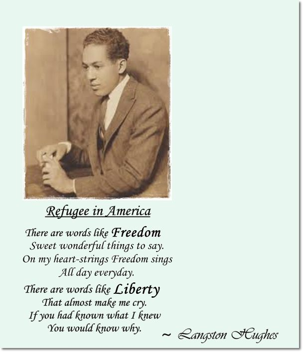 langston hughes in the beginning there was Best famous langston hughes poems  , he starts first with himself and the faith that is in his heart- the strength there, the will there to build first in the heart is the dream- then the mind starts seeking a way.