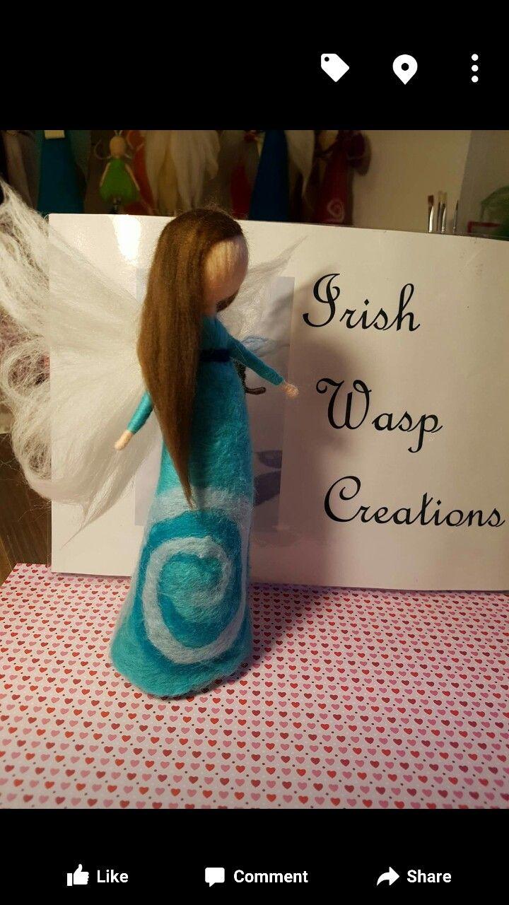 Hand-felted Fairy. For more visit IrishWaspCreations on Facebook