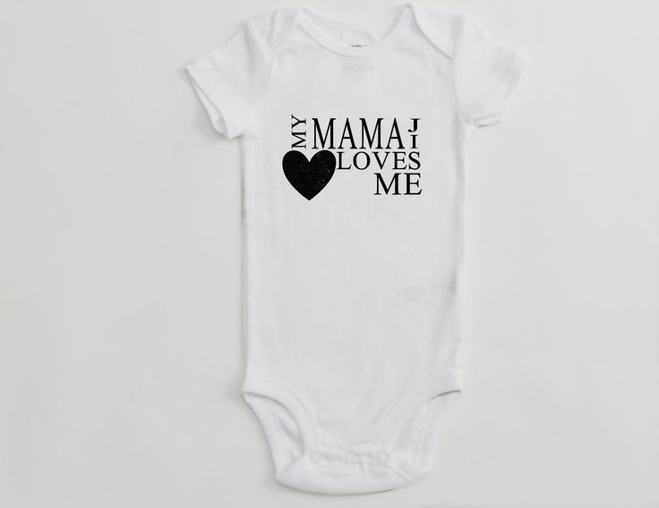 White – Short Sleeve – Infant Onepiece – My Mamaji Loves Me – Heart Design
