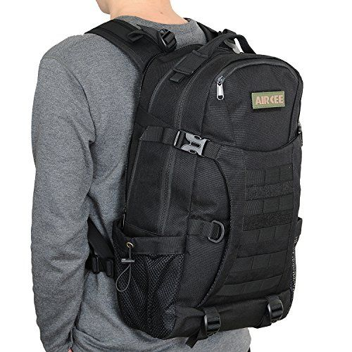 Aircee (TM) Outdoor Gear Assault Compact Backpack Small Tactical Molle Backpack Waterproof Travel Daypack Military Rucksacks 25L (Black) For Sale https://besttacticalflashlightreviews.info/aircee-tm-outdoor-gear-assault-compact-backpack-small-tactical-molle-backpack-waterproof-travel-daypack-military-rucksacks-25l-black-for-sale/