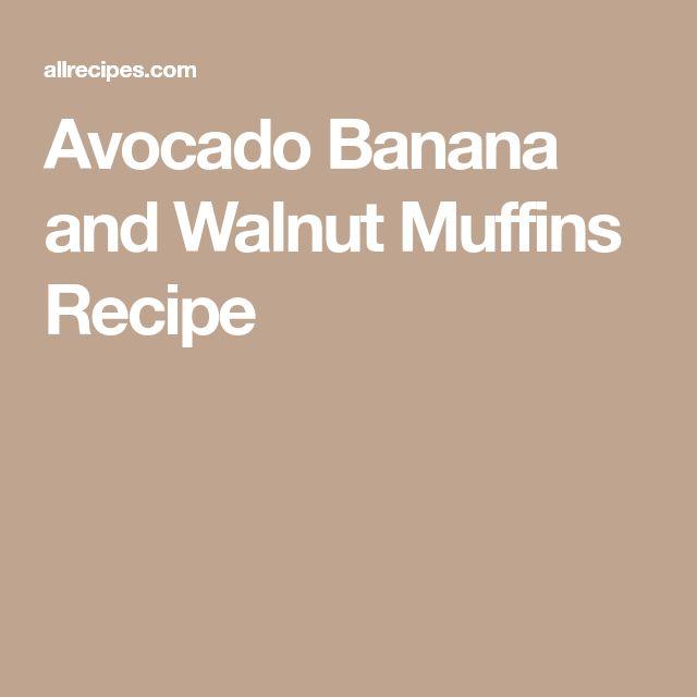 Avocado Banana and Walnut Muffins Recipe