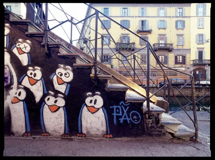 Penguins by Pao. Navigli Milano.