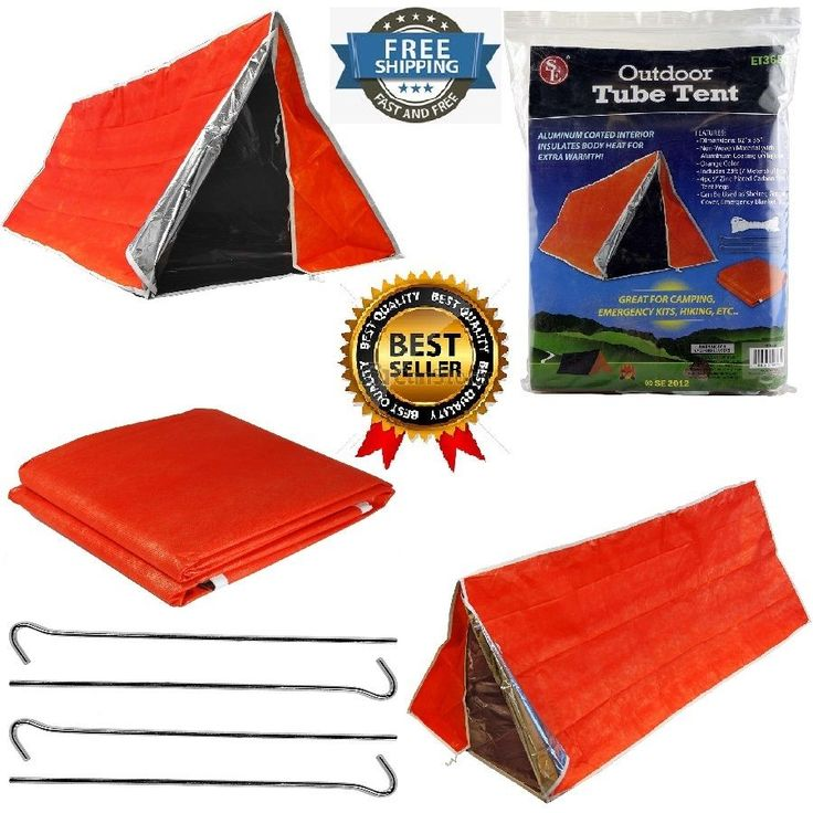 Durable Insulating Thermal Tube Tent Emergency Survival Kit Outdoor C&ing Trip #SonaEnterprises  sc 1 st  Pinterest & 275 best camping and survival images on Pinterest | Adventure ...