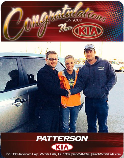 Congratulations to Robert and Heather Hughes on their New 2014 KIA Sorento! - From Brandon Warton at Patterson Kia!