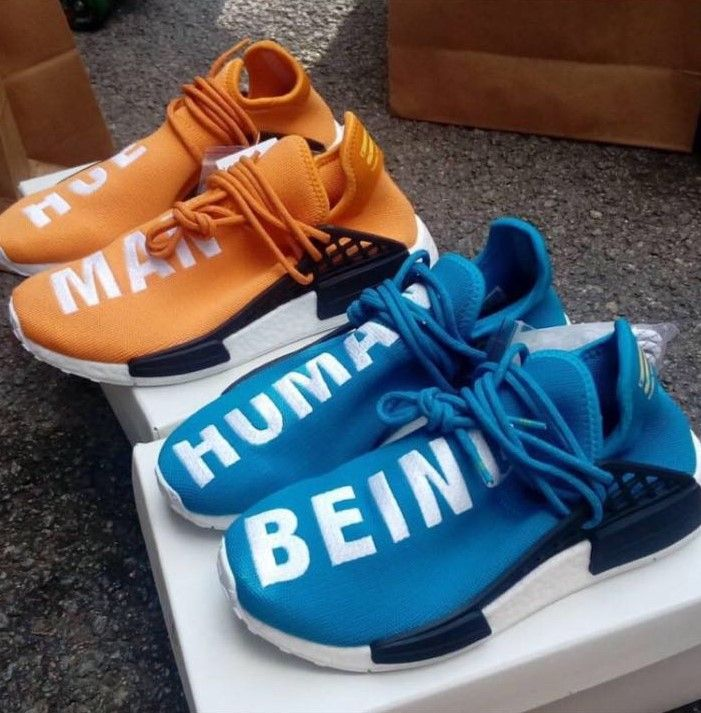 Yellow Red Blue Black Adidas X Pharrell Human Race NMD Review