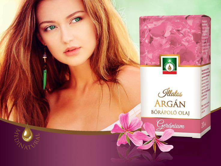 Marokkói illatos argán bőrápoló olaj - magával ragadó, rózsára emlékeztető geránium illatal ! Mire ajánljuk?   éret, száraz vagy vízhiányos öregedő bőr ápolására   zsíros, pattanásokra hajlamos bőr ápolására   apró ráncok, szarkalábak és a finom mimikai vonalak halványítására   hegekre, striák, narancsbőr tüneteinek enyhítésére   szőrtelenítés, szoláriumozás, napozás után a nap perzselte érzékeny bőr megnyugtatására ápolására   sérült töredezett hajra, száraz fejbőrre   törékeny…