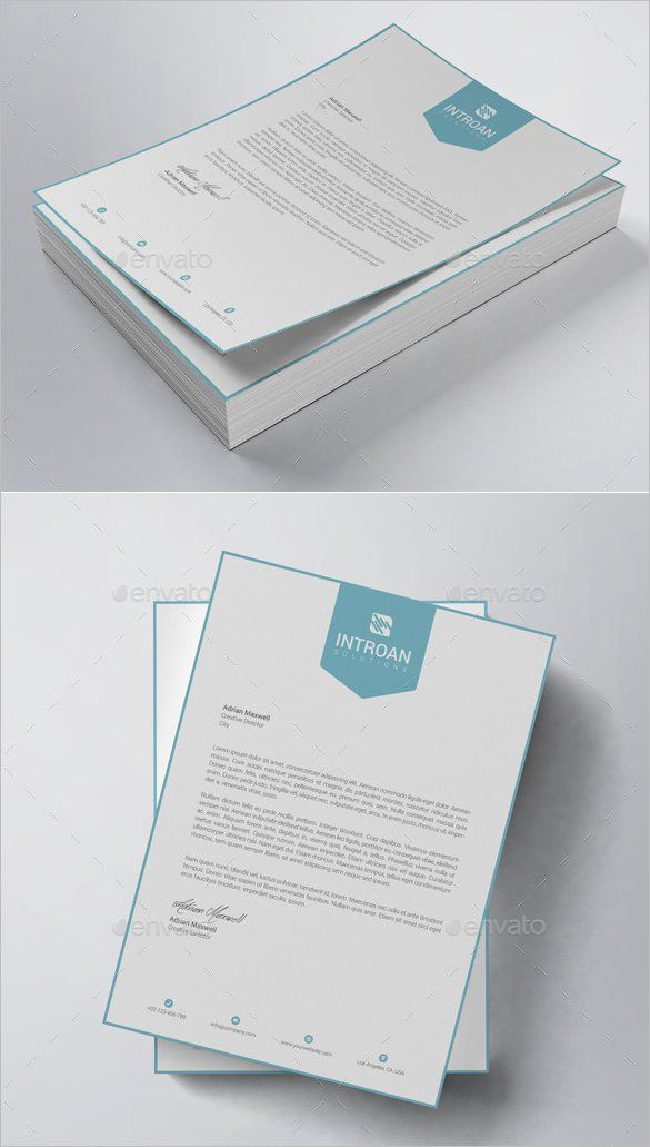 25+ beautiful Letterhead template ideas on Pinterest Letterhead - corporate letterhead template