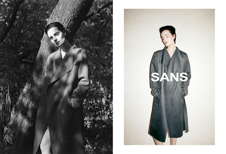 SANS Fall/Winter 2015/2016 collection, photo by Bartek Wieczorek, cashmere coat, www.sans-hf.com