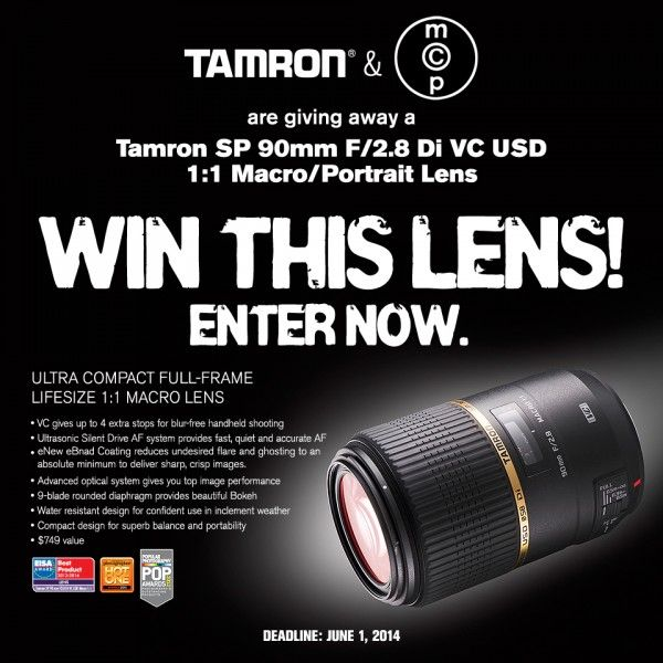MCP Win This Tamron F004 Jun2014 600x600 Tamron 90mm Macro Lens GIVEAWAY   Win a Sweet New Tamron Lens