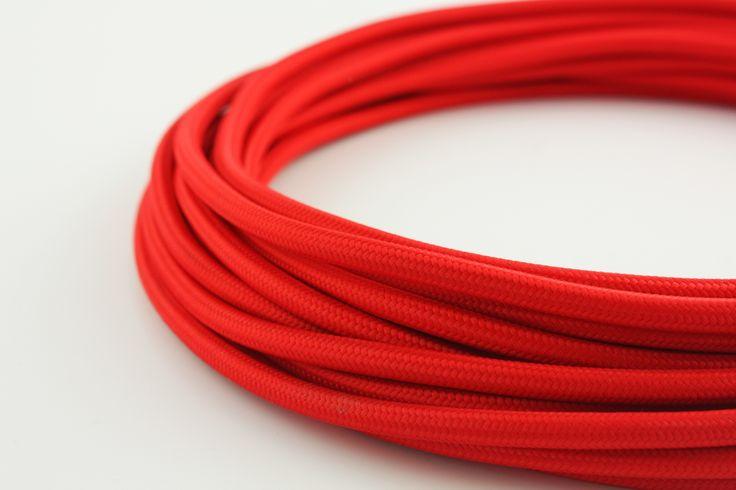 Rood strijkijzersnoer 2 polig
