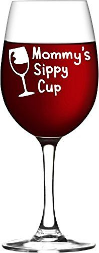 Mommy's Sippy Cup Wine Glass, New Mom Gift, Mother's Day Gifts - WG15