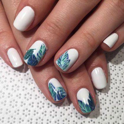 9+1 nail designs που μας μεταφέρουν σε τροπικούς προορισμούς | ομορφια , μακιγιάζ , news & trends | ELLE