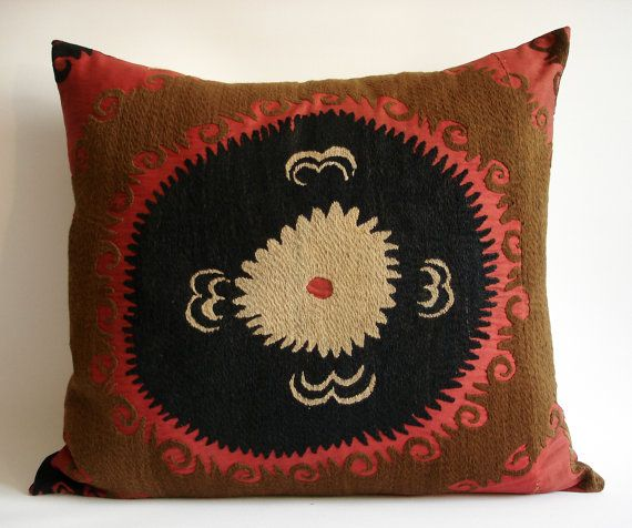 Vintage Hand Embroidered Suzani Pillow Cover