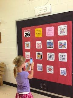 Great idea for Open House. Use student-made QR codes to make your open house engaging and more informative than you can possibly fit into your 15 minute spiel.