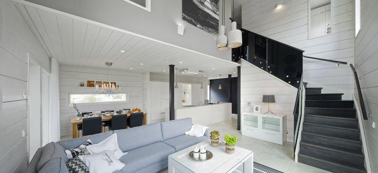Honka Harmonia living room. Honka log homes.