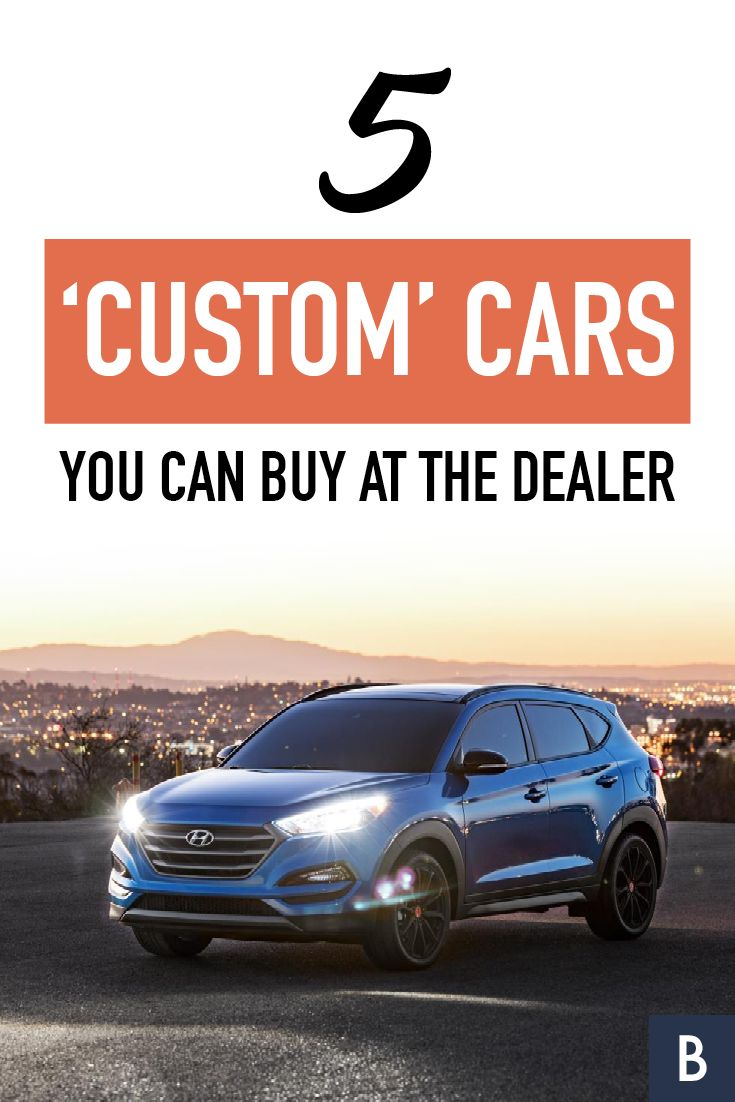 """These sleek, customized vehicles made their debut at a recent industry show. Although they're """"custom"""", you can find these 5 cars at the dealer.  Photo credit: Hyundai"""